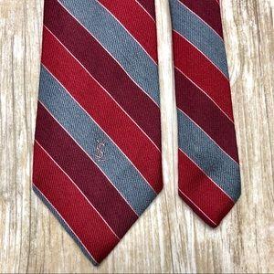 {Yves Saint Laurent} Wool Blend Devereaux Tie